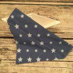 Hundehalstuchblau mit Sternen