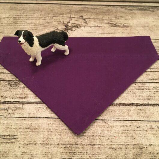 Hundehalstucheinfarbig lila