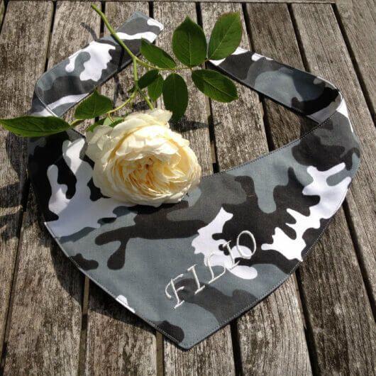 camouflage tarnfarben grau schwarz weiss hundehalstuch zum binden 606a4928