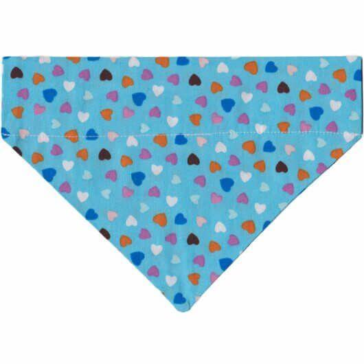 candy colours kleine herzen auf hellblau hundehalstuch mit tunnel 606a4f75