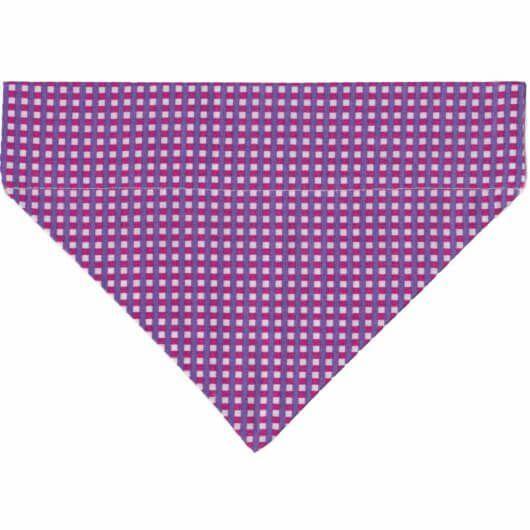 Hundehalstuch extravagantes Minikaro für Diva oder Boss – kariert lila pink weiß