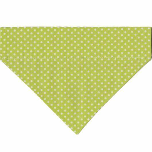 Hundehalstuch frühlingsfrischesGrün mit weißen Punkten