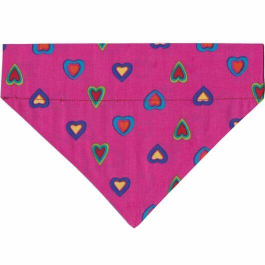 herziges hundehalstuch mit tunnel candy colors herzen pink bunt 606a4ed2