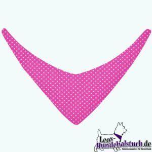 Hundehalstuch kleinePunkte auf Pink