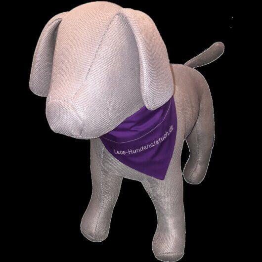 Hundehalstuch Leos Lila – das Original Leos Hundehalstuch mit Tunnel – einfarbig Lila