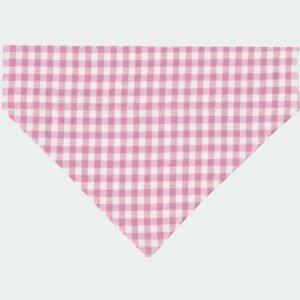 Hundehalstuch niedliches Vichykaro in Rosa Weiß für dein Hundemädchen