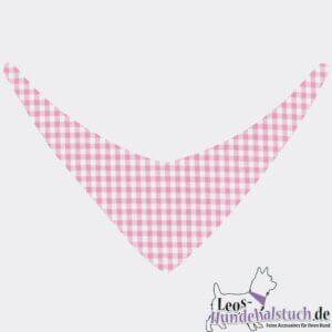 Hundehalstuch niedlichesVichykaro für dein Hundemädchen in Rosa Weiß