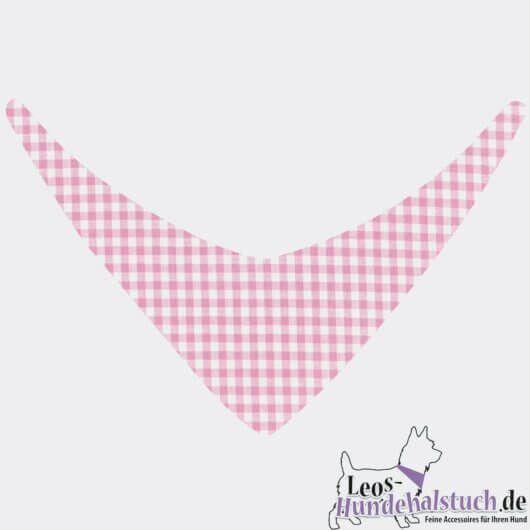 niedliches vichykaro fuer dein hundemaedchen in rosa weiss hundehalstuch zum binden 606a49ab