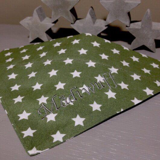 Hundehalstuch Olivgrün mit Sternen