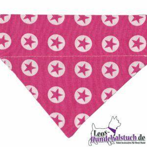 Hundehalstuch Sternsignal pink